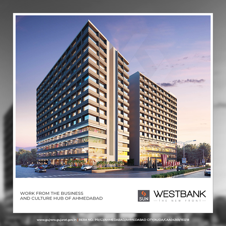The riverfront has been successfully envisioned and the projections for the future have been carefully studied, making it the business hub of Ahmedabad.  #SunWestBank #SunBuildersGroup #Ahmedabad #Gujarat #RealEstate #SunBuilders