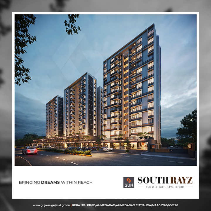 Affordable homes that are inspired by your lifestyle aspirations.  #SouthRayz #FlowRight #LiveRight #SunBuildersGroup #SunBuilders #RealEstate #Ahmedabad #RealEstateGujarat #Gujarat