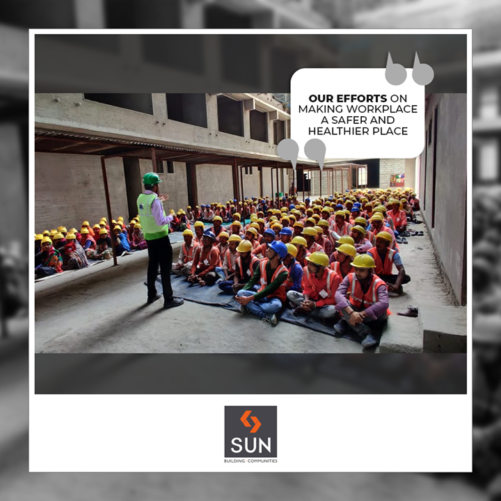 On this 49th National Safety Week our safety expert gave an expert lecture and demonstration about safe practices at construction sites.  #NationalSafetyWeek #SafetyWeek #Safety #SunBuildersGroup #RealEstate #SunBuilders #Ahmedabad #Gujarat