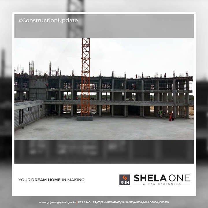 Your dream home in making!  #ConstructionUpdate #ShelaOne #SunBuildersGroup #SunBuilders #RealEstate #Ahmedabad #RealEstateGujarat #Gujarat