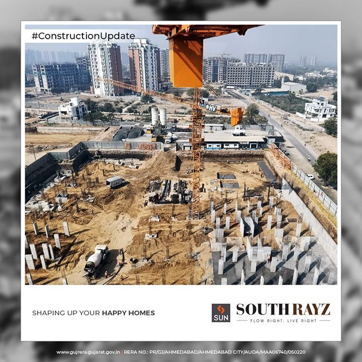 Shaping up your happy homes.  #ConstructionUpdate #SouthRayz #FlowRight #LiveRight #SunBuildersGroup #SunBuilders #RealEstate #Ahmedabad #RealEstateGujarat #Gujarat