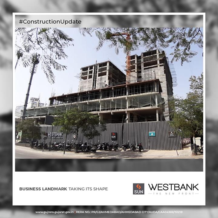 Business landmark taking its shape  #ConstructionUpdate #SunWestBank #SunBuildersGroup #Ahmedabad #Gujarat #RealEstate #SunBuilders