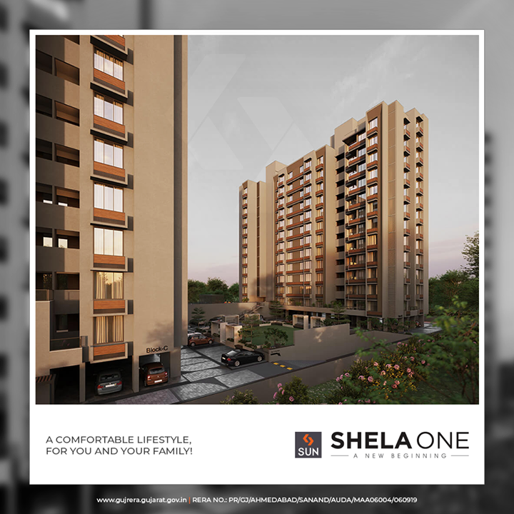 Sun Shela One, where comfort is crafted keeping in mind your convenience  #ShelaOne #SunBuildersGroup #SunBuilders #RealEstate #Ahmedabad #RealEstateGujarat #Gujarat