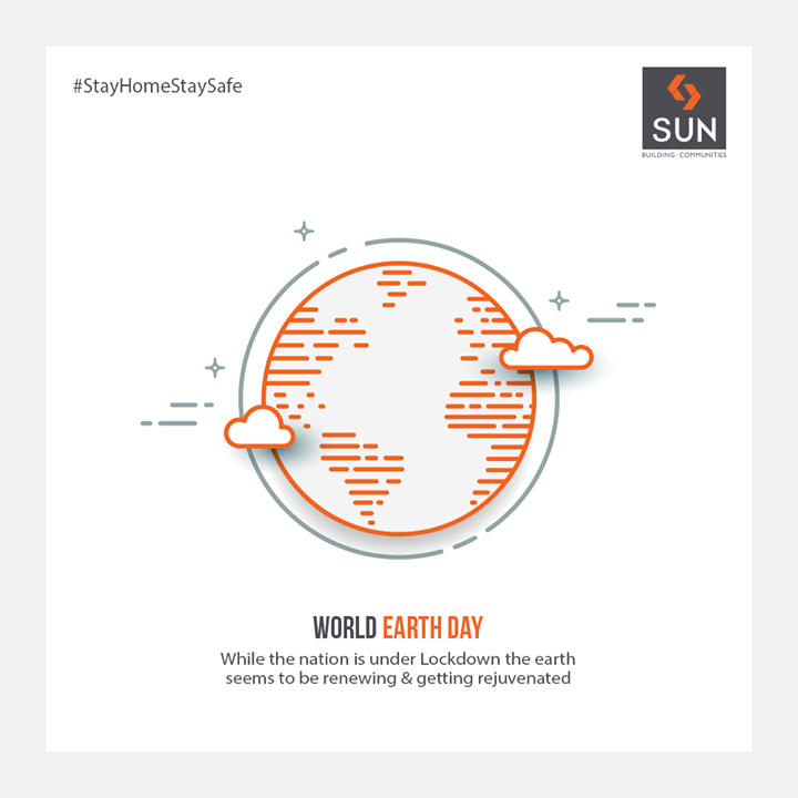 While the nation is under #Lockdown the earth seems to be renewing & getting rejuvenated  #WorldEarthDay #StaySafeStayHealthy #SunBuildersGroup #Ahmedabad #Gujarat #RealEstate