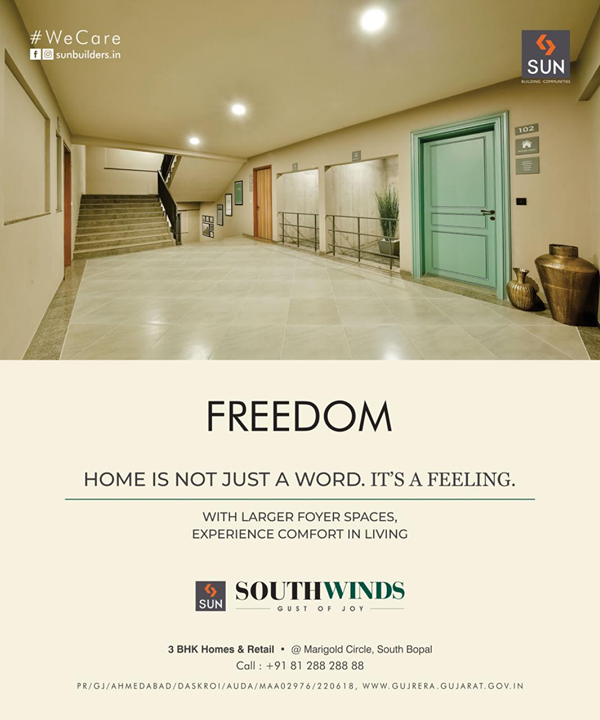 Nearly 4 decades of trust, quality construction, ethical practice and commitment is what you get with Us.   Sun South Winds, Retail outlets & 3BHK Affordable Homes located at prime location in South Bopal. Designed aesthetically and well planned project in close promixity to all your daily necessities.    Possession in 2 months!! For Details Call +91 987932060  #retail #residential #southbopal #affordablehomes #3bhk #safeinvestment #qualityconstruction #ethics #realestateahmedabad #sunbuildersgroup #staysafe #wecare