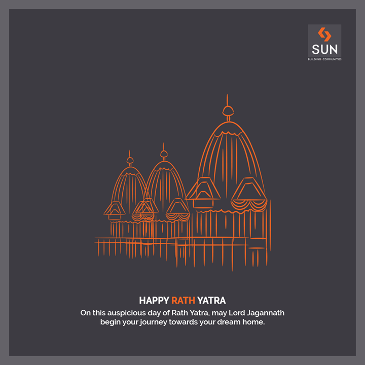 On this auspicious day of Rath Yatra, may Lord Jagannath begin your journey towards your dream home.  #rathyatra #realestateahmedabad #sunbuildersgroup #ahmedabad
