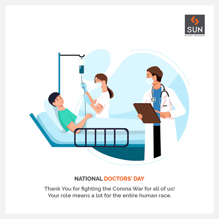 Let's take a moment to thank our doctors and frontline healthcare workers for their round the clock commitment and service, specially during Covid19. A heartfelt #Thankyou for your dedication and resolve. Respect. . . #NationalDoctorsDay #DoctorsDay2020 #realestateahmedabad #sunbuildersgroup #ahmedabad