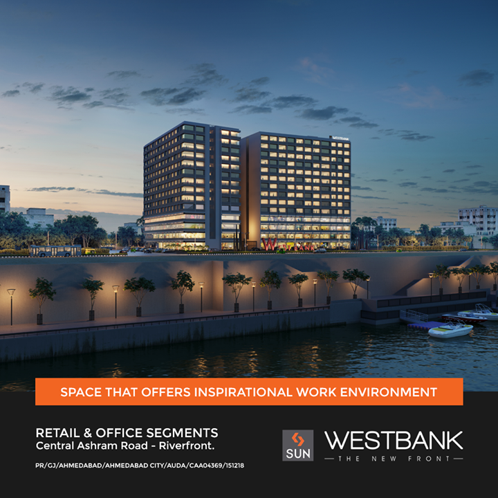 Get your hands on the Most Sought after Location in heart of the city with Smartly Designed Infrastructure Promising a Right Path to your Business.    An opportunity to grow bigger, better and find the perfect work-life balance in a stimulating environment.   For Details Call +91 9978932057  #SunWestBank #SunBuildersGroup #Ahmedabad #Gujarat #RealEstate #SunBuilders #Ashramroad #Riverfront #offices #showrooms