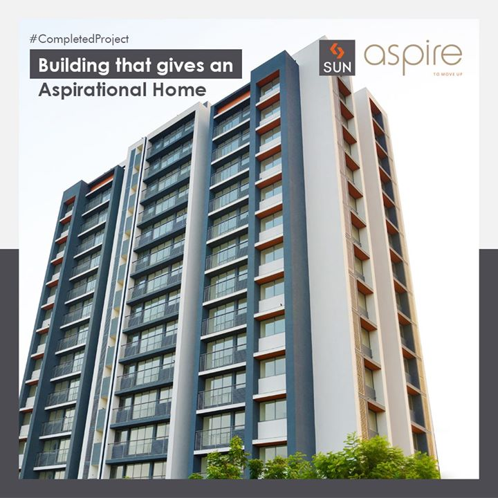 Through Sun Aspire, we have built Aspirational Homes which made beginnings better and dreams bigger. These 14 Storey high, 2.5 BHK homes have been a successful project in providing Contentment and a better Lifestyle to our Customers. Our dedication and Commitment towards Quality makes us better than the rest.  #SunAspire #Ahmedabad #Residential #SunBuildersGroup #Gujarat #RealEstate #SunBuilders #CompletedProject