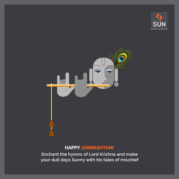 May the melody of Lord Krishna's flute blossom love & serenity in your life!  #HappyJanmashtami #SunBuildersGroup #Ahmedabad #Gujarat #SunBuilders #RealEstate