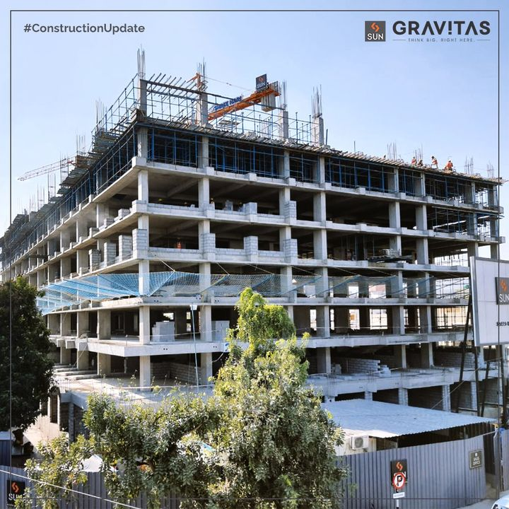 Sun Gravitas is an upcoming commercial center located at an ideal destination to set up your Startup or Retail Businesses, offering all the Gravitas that your Commercial Venture needs. Here's a glimpse of conducive work environs rising every day with the rising sun @Shyamal Cross Road.  #SunBuildersGroup #SunBuilders #SunGravitas #ConstructionUpdate #CommercialSpace #StartUpOffice #Retail #Business #WorkSpace #ShyamalCrossRoad #RetailShowrooms #OfficeSpaces #RealEstate #RealEstateAhmedabad #Ahmedabad #Gujarat #GujaratRealEstate #India