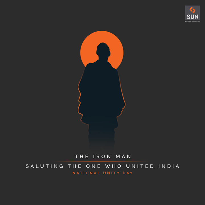 This National Unity Day, let's salute the Integrator and a Dynamic Leader who led India to the path of United and Independent Nation.  #SardarVallabhbhaiPatel #StatueOfUnity #UnityDay2020 #NationalUnityDay #RashtriyaEktaDiwas #IronManofIndia #SunBuildersGroup #SunBuilders #RealEstate #Ahmedabad #RealEstateGujarat #Gujarat