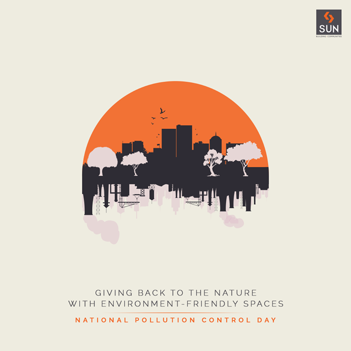 Giving back to the nature with Eco-Friendly spaces, with thousands of trees planted as our contribution to the environment.  #NationalPollutionDay #Pollution #Environment #ClimateChange #GoGreen #SayNoToPollution #SunBuildersGroup #SunBuilders #RealEstate #Ahmedabad #RealEstateGujarat #Gujarat