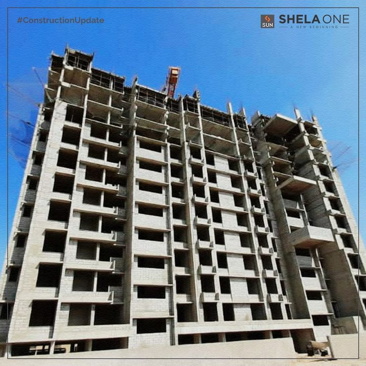 Check out the construction update of our ongoing project, Shela One, as of November 2020. We are so excited to share that the construction is right on schedule with the plumbing work for the 7th floor of Block C & D and the Masonry work for the 10th-floor currently in the works.   Sun Shela One is a favorably located 2 to 2.5 BHK Apartment with all the amenities within close proximity to your necessities, ensuring a fulfilling life.   #ConstructionUpdate #ShelaOne #SunBuilders #Ahmedabad
