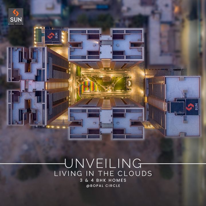 Welcome to a new perspective of City living in Ahmedabad.   Unveiling a Home in the Clouds with 3 & 4 BHK Residences that provide conducive environments to nurture and grow together. With aspects of an urban lifestyle, we encourage health and fitness along with entertainment and relaxation.   #SunSkyPark #SkyPark #SunBuilders #SunBuildersGroup #Ahmedabad #Residential #Bopal #Ambli #LuxuryHomes #3BHK #4BHK #QualityConstruction #RealEstateAhmedabad