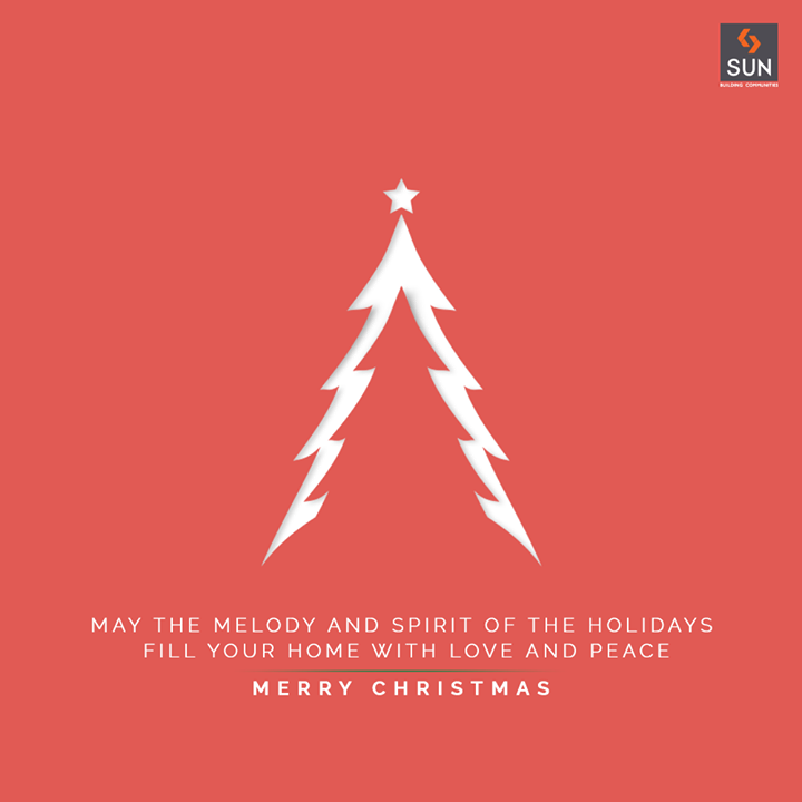 May the melody and spirit of the holidays fill your home with love and peace.  #Christmas #MerryChristmas #Christmas2020 #Festival #Cheers #Joy #Happiness #SunBuildersGroup #SunBuilders #RealEstate #Ahmedabad #RealEstateGujarat #Gujarat