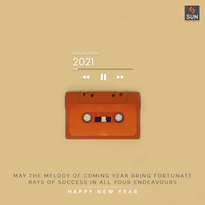 May the melody of coming year bring fortunate rays of success in all your Endeavours.  Happy New Year!  #HappyNewYear #NewYear2021 #ByeBye2020 #NewYear #Celebration #Love #Happy #Cheers #Joy #Happiness #SunBuildersGroup #SunBuilders #RealEstate #Ahmedabad #RealEstateGujarat #Gujarat