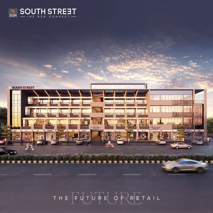 Sun South Street is all set to become the future of retail with G + 3 levels of exclusive retail segments, ideal for medical practitioners, fashion brands and restaurants. Connect with new possibilities with this engaging commercial landscape which is BU Ready.  Architect: @hm.architects Location: South Bopal Status: Ready Possession  #SunBuildersGroup #SunBuilders #SunSouthStreet #Retail #Showrooms #SouthBopal #SOBO #ReadyPossession #DeliveredProject #BuildingCommunities #RealEstateAhmedabad