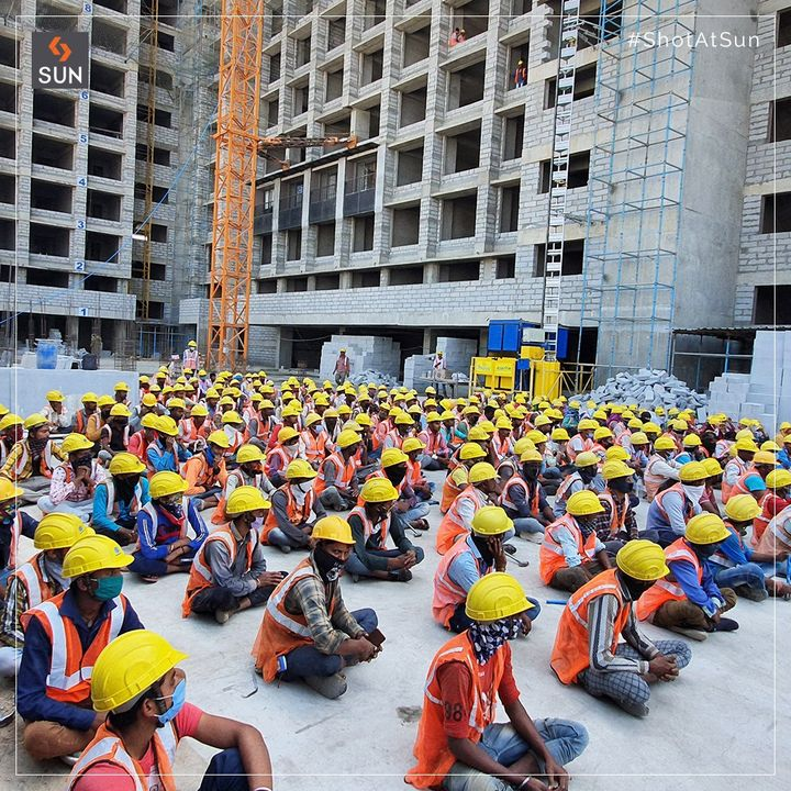 In the world of construction, safety is paramount. As we like to say, no job or service is so important or urgent that it cannot be performed the SAFE way. Our team across all the construction sites underwent a rigorous training during the safety week as a part of routine. Here are some of the glimpses.  #SunBuildersGroup #SunBuilders #SafetyWeek #ConstructionAtSun #ShotAtSun #RealEstateAhmedabad #IndiasFinestDevelopers #BuildingCommunities