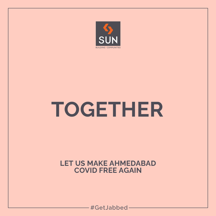 Thank you for your overwhelming response on the #GetJabbed Campaign. Vaccines are the best protector of human life and helps increase immunity to fight the disease. Stay Determined to take the Covid-19 Vaccine and everything will be normal soon.  Here is the carousel of the campaign that you all loved and appreciated.  #SunBuildersGroup #SunBuilders #BuildingCommunities #RealEstateAhmedabad #GetVaccinated #IndiaFightsCorona