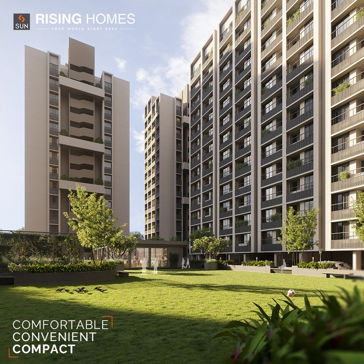 Let your zest of living be amplified, as you step into homes that are made just for you.  Sun Rising Homes have 1 & 1.5 BHK Compact Homes that'll make independent living more fun and makes you feel proud of yourself.  We ensure you that this is just the right place to start & fulfil your aspirations & begin a life-of-joy.  For Details Call: +91 95128 06115  Architect: @hm.architects Location: B/S Godrej Garden City, Jagatpur Status: Just Launched  #SunBuildersGroup #SunBuilders #SunRisingHomes #RisingHomes #Residental #Retail #CompactLiving #AffordableHomes #Homes #1BHK #1.5BHK #Jagatpur #BuildingCommunities #RealEstateAhmedabad