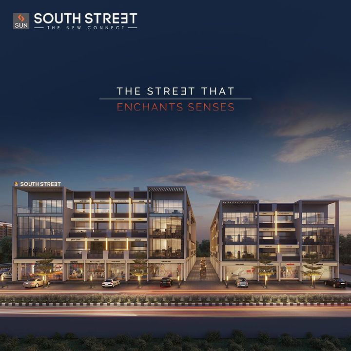 Sun South Street is Ready to become the new Social Hub meeting all daily consumable and social needs with exceptional Retail Segments at South Bopal. Capturing attention as the cosmopolitans pass by, this enchanting facade will always entice their senses to explore more.  For Details Call: +91 99789 32081  Architect: @hm.architects Location: South Bopal Status: Ready Possession  #SunBuildersGroup #SunBuilders #SunSouthStreet #Retail #Showrooms #SouthBopal #SOBO #ReadyPossession #BuildingCommunities #RealEstateAhmedabad
