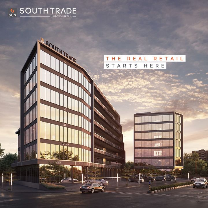 Get the Retail Edge and stay on top of your game at the angularly designed Sun South Trade where Business meets Destiny at every corner.   Being impeccably located in the central spine of Bopal & South Bopal, the retail realm will offer maximum visibility to the front units.  Get onto a whole new world of the Real Retail at Sun South Trade.  For Details Call: +91 9978932083  Architect: @hm.architects Location: SouthBopal Status: Just Launched  #SunBuildersGroup #SunBuilders #SunSouthTrade #Retail #Showroom #SouthBopal #realestateahmedabad