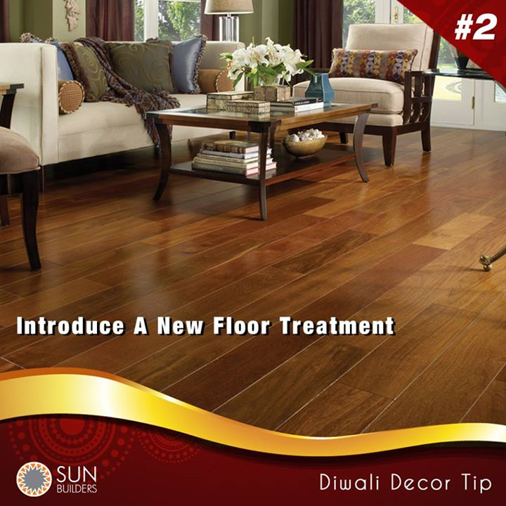 DIWALI DÉCOR TIP #2  Heard of tile-on-tile options? That way, you can upgrade your flooring without actually going through the hassle of removing the original layer of floor. Go with laminates, engineered wood, carpet tiles, even hardwood. Nothing like a fresh new floor for the #festive season, right?  #Diwali #homedecor #festival #celebrate