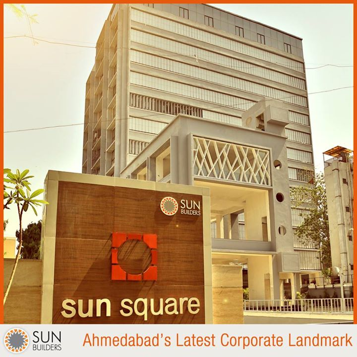 Sun Builders Group brings you Ahmedabad's latest corporate status symbol - Sun Square - Corporate Spaces & Showrooms on C.G. Road. For details contact +91 830 666 4888 or visit http://goo.gl/3NZHpe