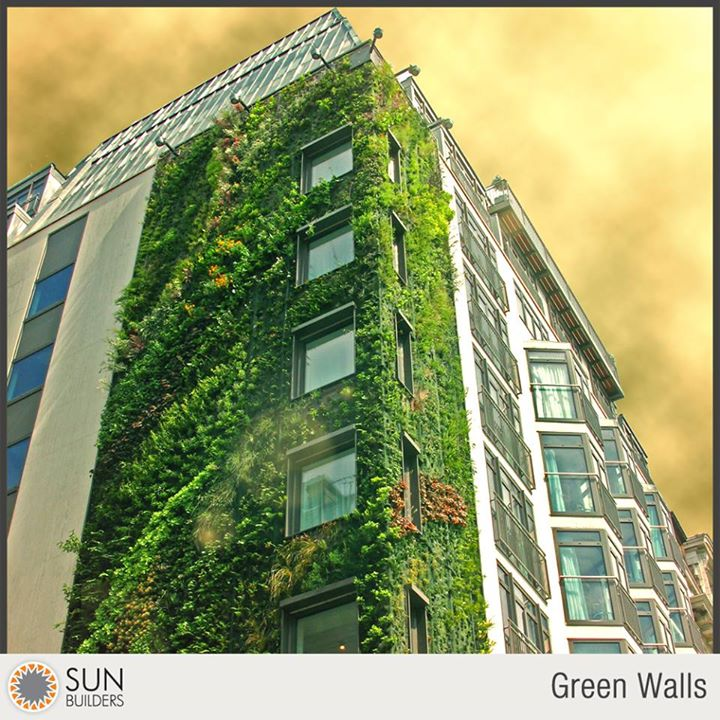 Also known as living walls, biowalls, vertical gardens or ecowalls, green walls not only provide good acoustic buffer but also act as a natural filter and improve air quality in the building. #smartliving #construction #innovation