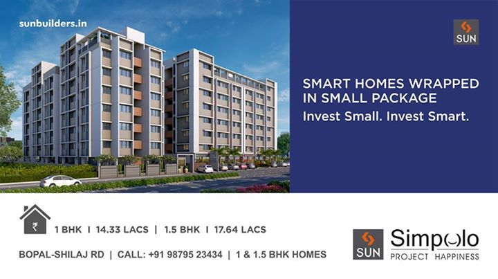 They say, good things come in small packages. Well yes, they do. Unveiling Project Happiness - Sun Simpolo 1 and 1.5 BHK homes starting at a simply delightful price of Rs. 14.33 lacs.  #SunSimpolo #ProjectHappiness  Book now! http://goo.gl/ebP3Ul