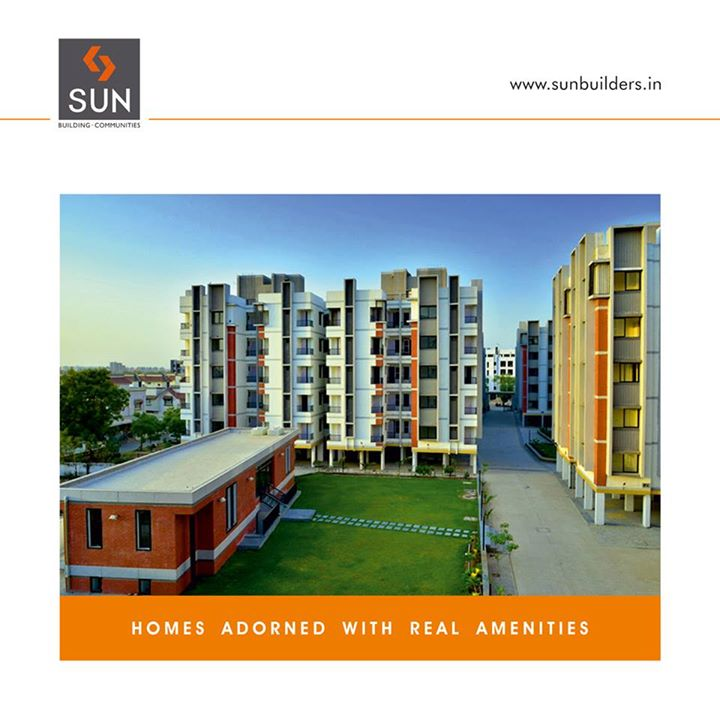 #SunRealHomes offer 1 & 2 BHK affordable homes with beautiful amenities and a well designed abode. Visit- http://www.sunbuilders.in/Sun-Real-Homes/index.html…  #Ahmedabad
