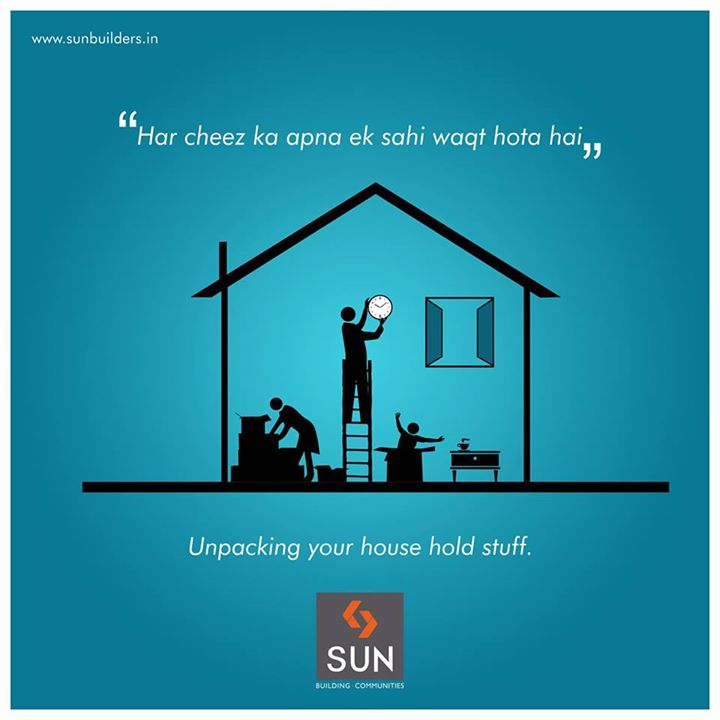 #GharGharKiKahaani: Unpacking in your new house has its own time.