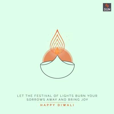 Let the festival of lights burn your sorrows away and bring joy  #HappyDiwali #Diwali2020 #IndianFestival #Celebration #SunBuildersGroup #SunBuilders #LivingAtmosphere #RealEstate #RealEstateAhmedabad