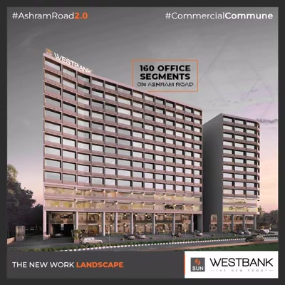 The new work landscape with modern work spaces that ditches the old conventional ways of working!  #SunBuilders #RealEstate #Ahmedabad #RealEstateGujarat #Gujarat #SunWestBank #AshramRoad