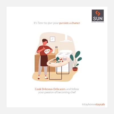It's Time to give your passion a chance  #StayIndoor #SocialDistancing #StayUnited #COVID19 #IndiaFightsCorona #Coronavirus #SunBuildersGroup #Ahmedabad #Gujarat #RealEstate