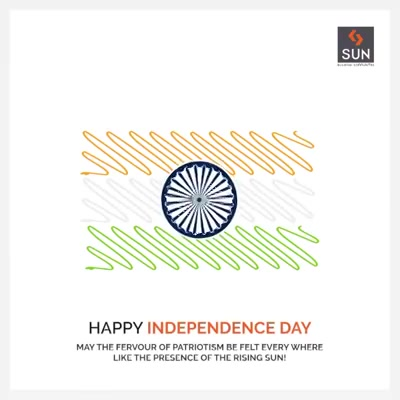 Where each Flag unfurls in the celebration of Unity, And each day the sun rises and shines Diversity  #SunBuildersGroup #Ahmedabad #Gujarat #SunBuilders #RealEstate #IndependenceDay