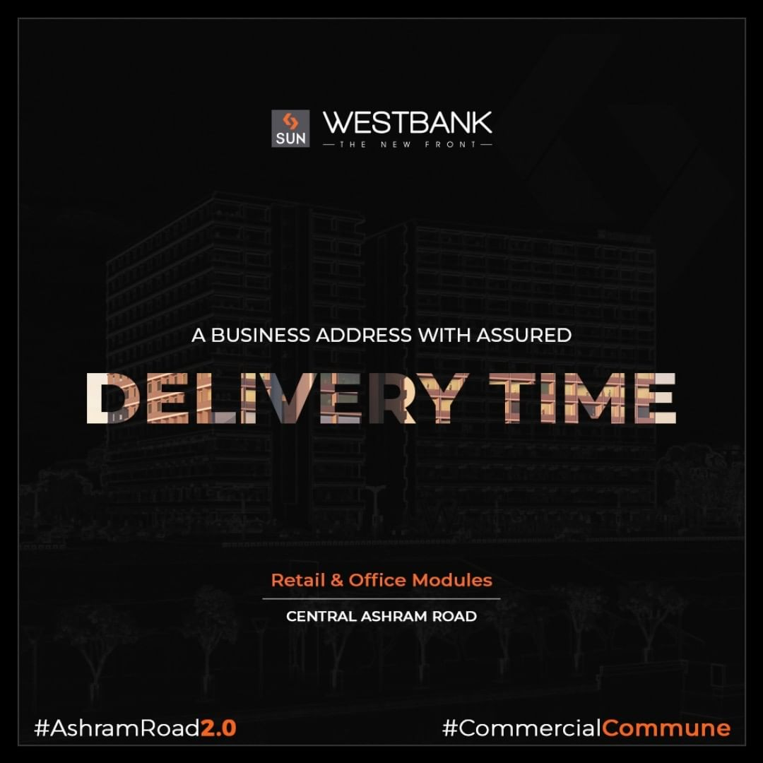 "We commit to building long term value by understanding the importance of ""TIME"" & hence adhere to assured project delivery time.  #SunBuilders #RealEstate #WestBank #SunWestBank #Ahmedabad #Gujarat #SunBuildersGroup #AshramRoad2point0 #commercialcommune #ComingSoon #NewProject"