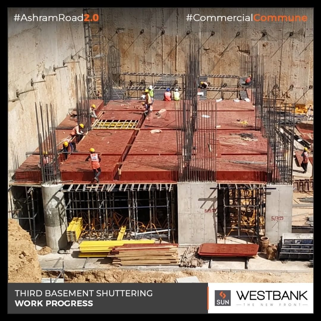 The progressive on-site update at Sun #Westbank!  #SunBuilders #RealEstate #Ahmedabad #RealEstateGujarat #Gujarat #SunWestBank #AshramRoad