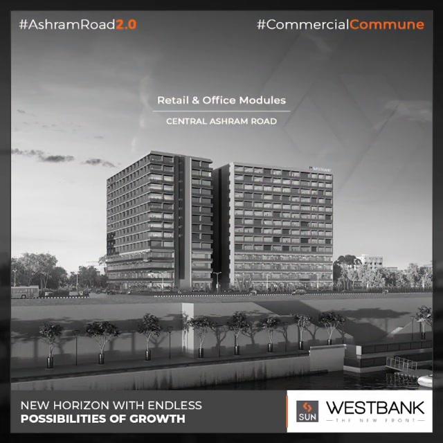 Opening new doors of endless opportunities!  #SunBuilders #RealEstate #WestBank #SunWestBank #Ahmedabad #Gujarat #SunBuildersGroup #AshramRoad2point0 #commercialcommune #ComingSoon #NewProject