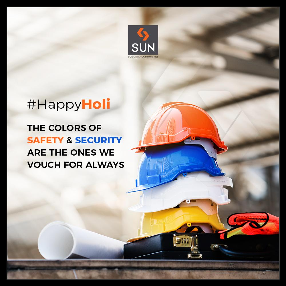 We at Sun Builders Group vouch for the safety & security all round the year. Happy festival of colorful hues!  #SunBuilders #RealEstate #Ahmedabad #RealEstateGujarat #Gujarat #HappyHoli2019 #HappyHoli #होली #Holi #IndianFestival #FestivalOfColour https://t.co/QZfl4r4EB4